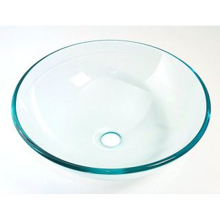 DeNovo Crystal Clear Glass Vessel Sink