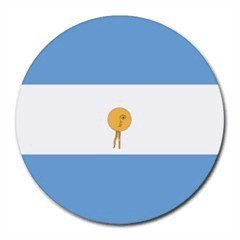 Argentina Flag Round Mouse Pad