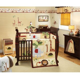 Lambs & Ivy Coco Tails 6 piece Crib Bedding Set