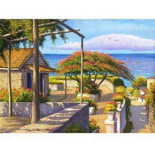 Landscape Original Canvas Painting (Cuba)