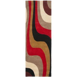 Handmade Rodeo Drive Eternity Red/ Grey/ Black Wool Rug (26 x 8