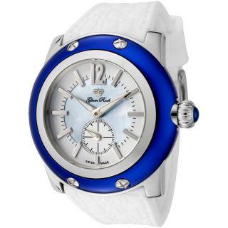 Glam Rock Womens Miami White Silicone Watch