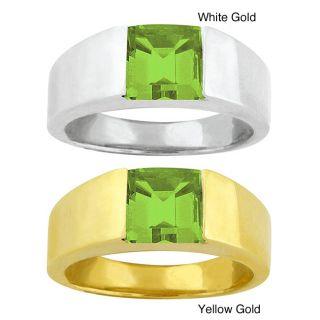 10k Gold Peridot Bold Contemporary Ring