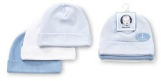 Gerber Textured Knit Cotton 3 Pack Caps Boys Size Newborn