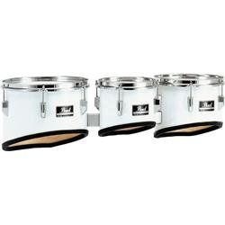 Pearl Competitor Marching Tom Set #33 Pure White 8,10,12