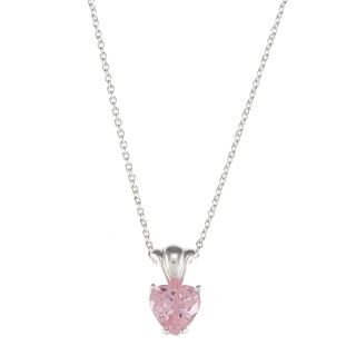 Disney Sterling Silver Pink CZ Princess Heart Pendant Today $28.49