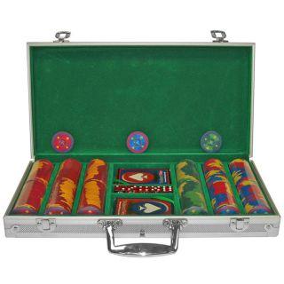 High Roller Ceramic 300 Quality Poker Chips Set