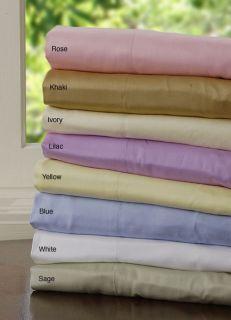 300 Thread Count Pima Cotton Sateen Sheet Set (King)