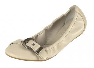 Christian Dior Cream Buckled Ballerina Flats