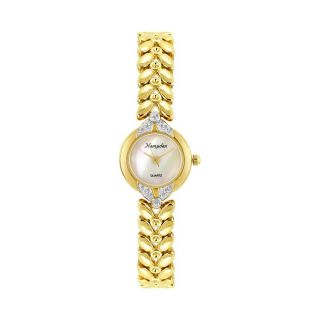 Hampden Womens Mother of Pearl and Cubic Zirconia Accented Watch