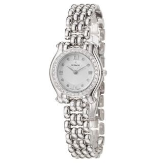 Movado Womens Brileti 14K White Gold Quartz Watch