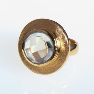 Gold over Silver Green Amethyst Ring (India)