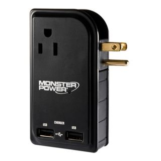 Monster Cable Outlets To Go MP OTG300 LTOP 5 Outlets Power Strip