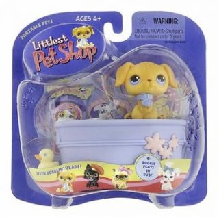 Littlest Pet Shop Portable Pets   Doggie Plays in Tub