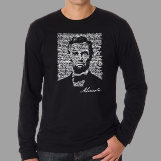 Los Angeles Pop Art Mens Abe Lincoln Long Sleeve T Shirt Today: $19