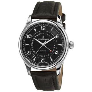 Revue Thommen Mens Date Pointer Black Face Automatic Watch