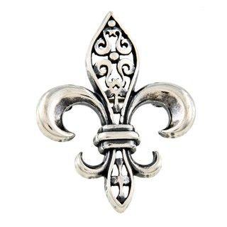 Silvermoon Sterling Silver Fleur de Lis Brooch