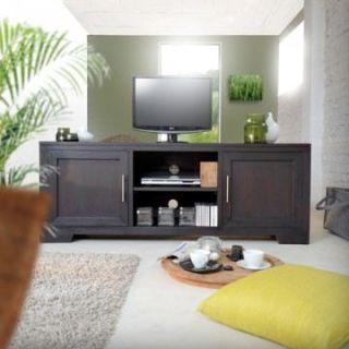 160 Glenaka   Achat / Vente MEUBLE TV   HI FI Meuble TV acajou 160