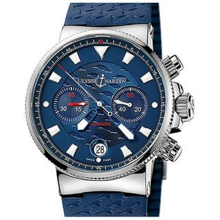 Ulysse Nardin Mens Marine Blue Seal Chronograph Watch