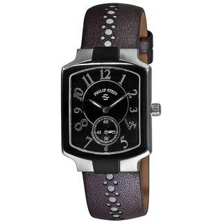Philip Stein Womens Signature Classic Tank Grey Strap Watch