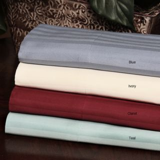 310 Thread Count Combed Cotton Sateen Stripe Sheet Set