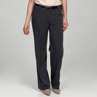 Sharagano Womens Storm Grey Double Belt loop Pants