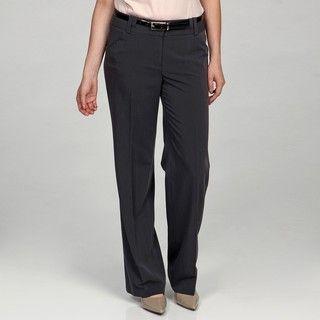 Sharagano Womens Storm Grey Double Belt loop Pants