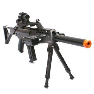 Spring Sniper Rifle FPS 220, Bipod, Scope, Silencer