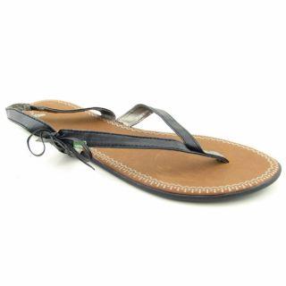 Sanuk Womens Kiss an Tell Black Sandals (Size 11)