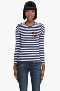 Comme Des Garçons Play  Cotton Jersey Striped Shirt for women