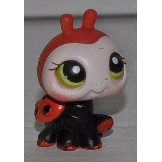 Ladybug #221 (Black/Red, White Face, Green Eyes) Littlest