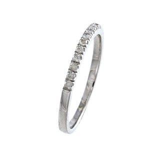 10k White Gold 1/5ct TDW Diamond Band (G H, I1 I2)