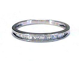 .15 ctw Baguette Diamond Wedding Band Ring white gold