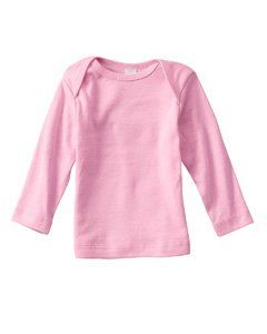 Bella Infant 5.8 oz. Baby Rib Long Sleeve T Shirt   WHITE