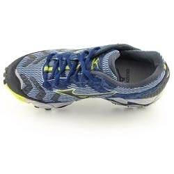 Mizuno Womens Wave Cabrakan Blue/Black/Lime Running Shoes (Size 11