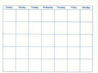 Blank Calendars   13 Months: Office Products