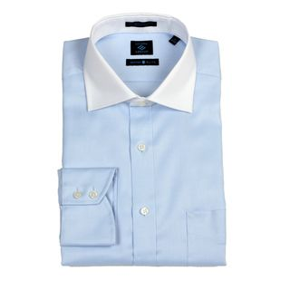 Joseph Abboud Mens Blue/ White Dress Shirt FINAL SALE