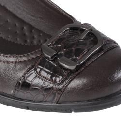 Journee Collection Womens Liz 1 Buckle Detail Almond Toe Loafer