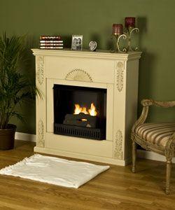 Roman Ivory Gel Fuel Fireplace