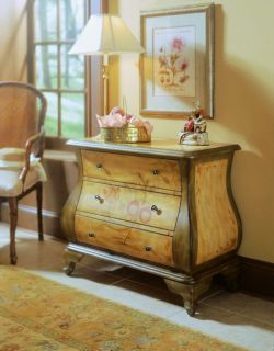 Hand painted Golden Honey and Celery Bombay Chest