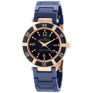 Anne Klein Womens Blue Ceramic Bracelet Watch