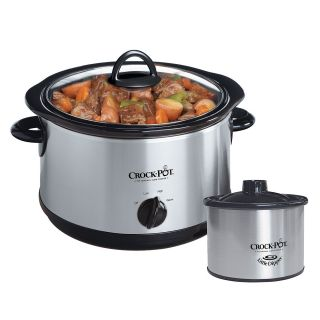 Crock Pot Stainless Steel 5 quart Slow Cooker