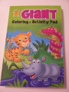 & Activity Pad ~ Tiger, Rhino, Snake Cover (224 Pages) Toys & Games