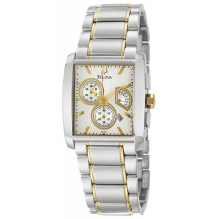 Bulova Womens Bracelet Stainless Steel/ Yellow Gold Retrograde Watch