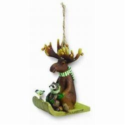 Moose on Toboggan Christmas Ornament: Sports & Outdoors
