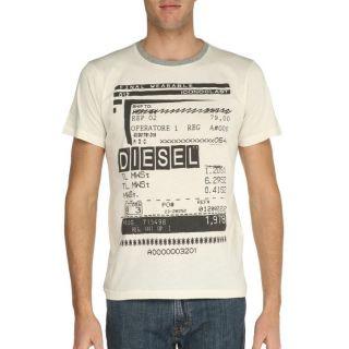 DIESEL T Shirt Barco Homme Beige Beige   Achat / Vente T SHIRT DIESEL