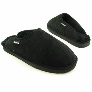 Bearpaw Mens Darwin Black Slippers Shoes