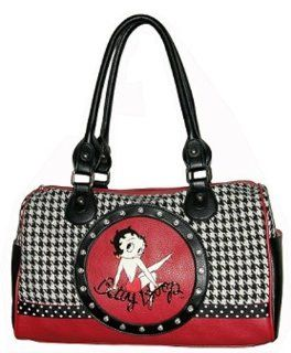 Betty Boop Satchel Handbag Houndstooth Pattern Style Home