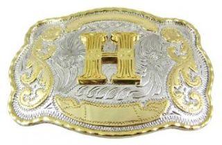 Huge Western Rodeo Initial H Belt Buckle Cowboy BEST