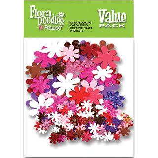 Flora Doodles Love U Paper n Glitter Flower Value Pack (325 Pieces)